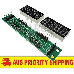 MAX7219 8 Digit Red LED Digital Display Module Arduino Raspberry Pi ESP8266