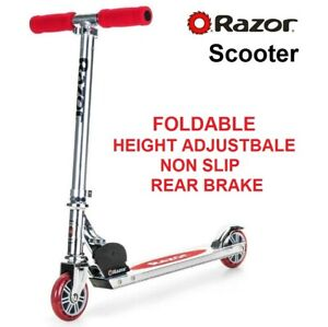 Childrens Scooter Metal Frame Foldable Non Slip Grip Adjustable Handle Height