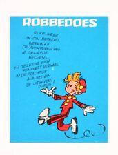 Objet publicitaire Spirou et Fantasio Buvard, Robbedoes, Spirou (En néerlandais)