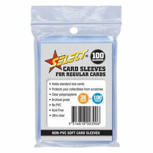 Select Regular Card Protective Sleeves - 100pcs