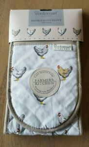 Cooksmart Farmers Kitchen Collection Double oven glove,chicken design