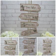 Alice in Wonderland Arrow Signs, Wedding Arrows, Tea Party Prop, Mad Hatter