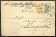 Württemberg Mi Dienst 210 MiF Postkarte durch Eilboten