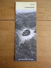 Land Rover Freelander precios folleto de junio de 1998 Jm