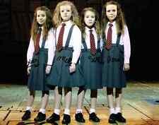 Matilda Musical Cast SIGNED 11x14 Photo by 4 Onna Sophia Bailey Milly COA