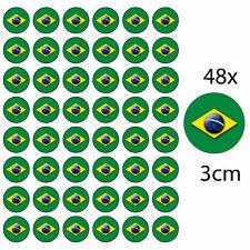 *48 x BRAZIL EDIBLE FAIRY CUP CAKE TOPPERS OLYMPICS RIO 2016 BRAZILIAN