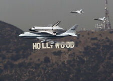 Historical Final Shuttle ENDEAVOUR last fly over HOLLYWOOD SIGN 8x10 PHOTO