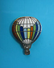 HOT  AIR  BALLOON  - hat pin , tie tac , lapel pin , hatpin (multi color-/white)