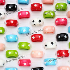 10pcs Wholesale lots Jewelry Top Grade Resin Lucite star Round Rings