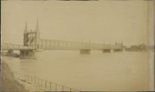 Allemagne, Pont sur le Rhin à Kehl Vintage albumen print.  Tirage albuminé