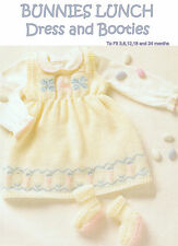 Baby girls Dress and Booties 3 ply knitting pattern 3 - 24 months 171 99p