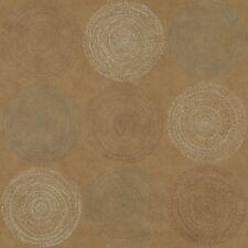 Arc com Cosmos Almond Tan modern contemporary circles Vinyl Upholstery Fabric