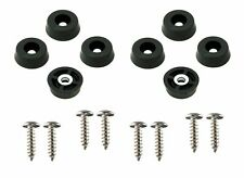 8 Small Round Rubber Feet  .671 W x .250 H - with Screws - Made in USA