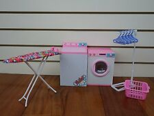 Barbie-Size Dollhouse Furniture- Laundry Room With Iron & Ironing Table By