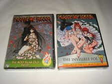 Lot of 2 Brand NEW Anime DVDs - Flame of Recca -- Volume 4 and Volume 8