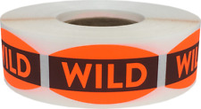 Wild Grocery Market Stickers, 0.75 x 1.375 Inches, 500 Labels on a Roll