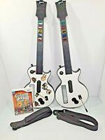 Guitar Hero 3 Legends of Rock  2 Les Paul Wireless Guitars  Game Bundle Set Wii