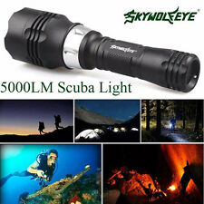 Waterproof(60M) 5000 Lumen  CREE T6 LED Diving Flashlight Torch Scuba Light Lamp