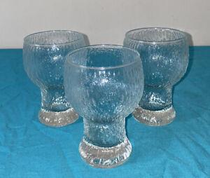 3 Vintage Iittala - Iittala Style Beer Water Glasses Scandi 70's Retro 300ml