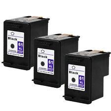 3PKs HP 61XL 61 XL Black Ink Cartridge For Deskjet 1055 1056 1510 1512 2050 2510