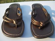 OP 7M Woodstock Gold Champaign Thong Sandals
