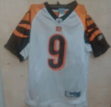Carson Palmer  9 Cincinnati Bengals White Youth M Jersey Reebok 8aab4acdc