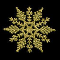 10cm Glitter Snowflake Christmas Tree Hanging Decorations