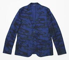 $507 Italy DANIELE ALESSANDRINI Linen Camouflage Blazer Jacket Large 40-US 50-IT