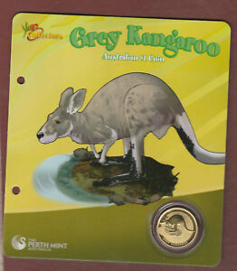 Young Collectors - 2008 Grey Kangaroo - Uncirculated $1 coin  ............  ..kt