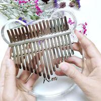 Kimi  Kalimba 17-Key Thumb Piano Transparent Acrylic with Tuner Hammer Gig Bag