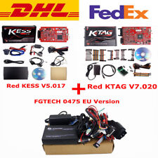 EU Red Kess V2 V5.017 + KTAG V7.020 2/4 LED+EU 0475 FGTECH Galletto 4 +FREE DHL