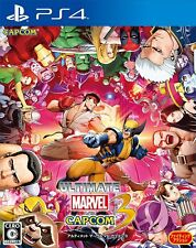 Used PS4 ULTIMATE MARVEL VS CAPCOM 3 JAPAN OFFICIAL IMPORT FREE SHIPPING