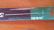 SUTTON metric HSS Long drill drillbit Size 2.00mm OL 110mm FL 55mm