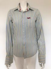BNWOT SUPERDRY GREY YELLOW STRIPED LONG SLEEVED SHIRT- SIZE SMALL