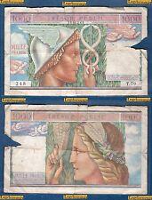 1000 Francs Trésor Public Type 1955 - T.79 / 248 Numéro 1968248 TRES RARE