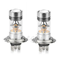 2PCS 100W Bright White 6000K H4 CREE LED Fog Daytime Light Lamp bulb Driving DRL