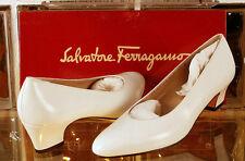 Salvatore Ferragamo SNELLA White CALF Womens Shoes NEW Size 6.5B 6 1/2B