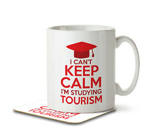 I Can't Keep Calm I'm Studying Tourism - Mug and Coaster by Inky Penguin