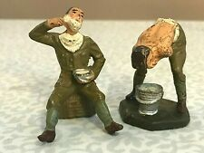 2 ALLIED SOLDIERS BATHING AND SHAVING  - 1938 LINEOL