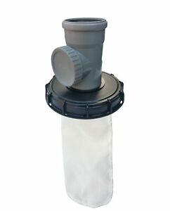 IBC Deckelfilter Regenwasserfilter Deckel DN 225 HT NW 110 mit Serviceöffnung