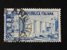 REPUBBLICA 1952 FIERA DI MILANO SERIE USATA <