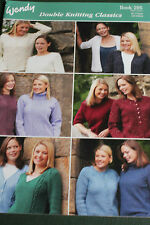 "Wendy DK Classics Knitting pattern book 295  32-44"" bust."