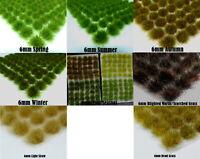 120 x 6mm Static Grass Tufts Self Adhesive MULTI-COLOUR - KOW 40K WFB AOS