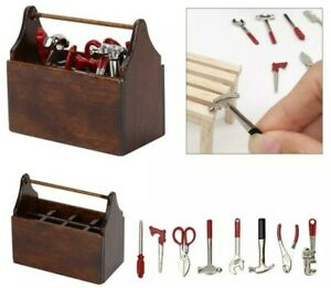 Doll House Accessories 1:12th Miniature - Mini Tool Box