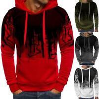 Mens Casual Long Sleeve Pullover Hooded Jumper Hoodies Outwear Sweater Slim Tops