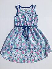 NEW! Guess Girls Size 12 Chiffon Easter Dress Floral Lace Sleeveless Summer