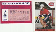 03-04 Topps Lost Rookie Cards Patrick Roy #LRC-PR HOF Canadiens BbB