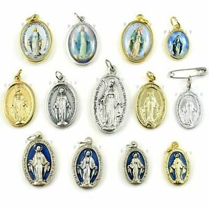 MIRACULOUS MARY MEDAL PENDANT Mother Jesus Christ Virgin Icon OUR LADY OF GRACE