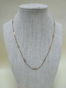"""18"""" 14k Yellow Gold Infinity Chain Link Necklace Made in Italy"""