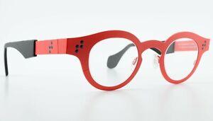 THEO Belgium Glasses Cinquante + Cinq 2 179 Pure Titanium Red Round Panto c2014
